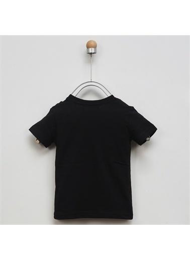 Panço Erkek Çocuk Basic V Yaka T-Shirt 9941BK05002 Siyah